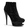 FASCINATE-1011 Black Suede